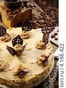 Торт и кофемолка. Стоковое фото, фотограф Марина Сапрунова / Фотобанк Лори
