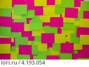 Разноцветные стикеры. Стоковое фото, фотограф Karataevo / Фотобанк Лори