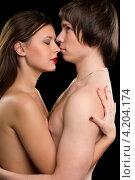 Купить «Портрет обнаженной молодой пары», фото № 4204174, снято 30 января 2012 г. (c) Сергей Сухоруков / Фотобанк Лори
