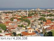 Вид на южный город сверху. Стоковое фото, фотограф Анатолий Баранов / Фотобанк Лори