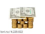 Купить «Дом из золотых монет и купюр», фото № 4220022, снято 25 ноября 2012 г. (c) Mikhail Starodubov / Фотобанк Лори