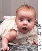 Купить «Четырехмесячная девочка», эксклюзивное фото № 4221926, снято 20 ноября 2012 г. (c) Алина Голышева / Фотобанк Лори