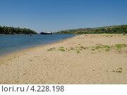Песчаный пляж на реке Дон (2012 год). Редакционное фото, фотограф Михаил Бессмертный / Фотобанк Лори