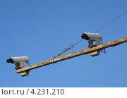 Купить «Камеры видеонаблюдения за дорожной ситуацией», фото № 4231210, снято 26 января 2013 г. (c) Данила Васильев / Фотобанк Лори