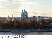 Смольный собор (2012 год). Стоковое фото, фотограф Андрей Разумов / Фотобанк Лори