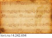 Купить «Состаренные музыкальные ноты», фото № 4242694, снято 31 марта 2012 г. (c) Александр Лычагин / Фотобанк Лори