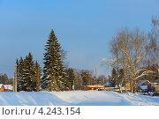 Зимняя деревня. Стоковое фото, фотограф Владимир Аликин / Фотобанк Лори