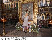 Купить «Иверская икона Божией матери в Валдайском Иверском монастыре», фото № 4255766, снято 15 августа 2018 г. (c) FotograFF / Фотобанк Лори