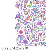 Цветочный абстрактный фон с местом для текста. Стоковая иллюстрация, иллюстратор kiyanochka / Фотобанк Лори