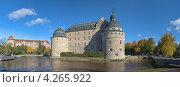 Панорамный вид на замок в Эребру в осенний солнечный день, Швеция (2012 год). Стоковое фото, фотограф Михаил Марковский / Фотобанк Лори
