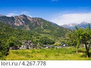 Горный ландшафт в западных Альпах. Долина Аоста. Италия (2011 год). Стоковое фото, фотограф Andrei Nekrassov / Фотобанк Лори