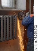 Купить «Замена радиаторов отопления», фото № 4268702, снято 2 сентября 2011 г. (c) макаров виктор / Фотобанк Лори