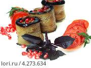 Рулеты из баклажанов, начиненные бараниной. Стоковое фото, фотограф ValeriyK / Фотобанк Лори