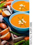Купить «Морковный суп», фото № 4281666, снято 7 февраля 2013 г. (c) Наталия Кленова / Фотобанк Лори
