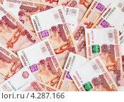 Купить «Много пятитысячных купюр», эксклюзивное фото № 4287166, снято 14 февраля 2013 г. (c) Игорь Низов / Фотобанк Лори