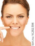 Купить «Очаровательная молодая женщина со смуглой ухоженной кожей на лице», фото № 4292594, снято 12 марта 2011 г. (c) Syda Productions / Фотобанк Лори