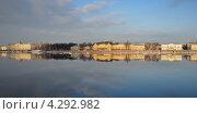 Купить «Санкт-Петербург. Панорамный вид на Университетскую набережную Невы», эксклюзивное фото № 4292982, снято 15 февраля 2013 г. (c) Александр Алексеев / Фотобанк Лори