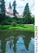 Летний вид на замок Пругонице, Прага, Чехия (2012 год). Стоковое фото, фотограф Юрий Брыкайло / Фотобанк Лори