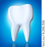 Купить «Зуб на голубом фоне», иллюстрация № 4296506 (c) Сергей Куров / Фотобанк Лори