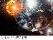 Купить «Фантастический космический фон», иллюстрация № 4307278 (c) Sergey Nivens / Фотобанк Лори