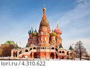 Купить «Покровский собор на Красной площади. Москва», фото № 4310622, снято 7 февраля 2012 г. (c) Наталья Волкова / Фотобанк Лори