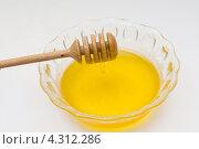 Мед в миске. Стоковое фото, фотограф Артем Свистун / Фотобанк Лори