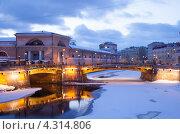 Купить «Санкт-Петербург. Мало-Конюшенный мост», эксклюзивное фото № 4314806, снято 20 февраля 2013 г. (c) Литвяк Игорь / Фотобанк Лори
