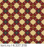 Купить «Цветной бесшовный орнамент», иллюстрация № 4337318 (c) Денис Авданин / Фотобанк Лори