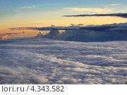 Небо. Закат. Вид с самолета. Стоковое фото, фотограф Ольга Герасимова / Фотобанк Лори