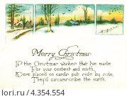 Купить «Иностранная рождественская открытка. До 1935 г.», иллюстрация № 4354554 (c) Копылова Ольга Васильевна / Фотобанк Лори