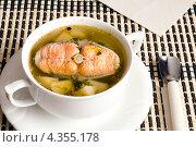Купить «Рыбный суп из форели», фото № 4355178, снято 3 марта 2013 г. (c) Володина Ольга / Фотобанк Лори