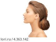 Купить «Нежная чувственная молодая женщина с длинными волосами, уложенными в узел», фото № 4363142, снято 28 августа 2011 г. (c) Syda Productions / Фотобанк Лори