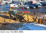 Купить «Ремонтные работы на Савеловском  вокзале», эксклюзивное фото № 4365986, снято 5 марта 2013 г. (c) Елена Коромыслова / Фотобанк Лори