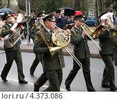 Купить «Военный оркестр на параде 9 мая 2011 г., Санкт-Петербург», фото № 4373086, снято 13 июля 2020 г. (c) Алексей Кокоулин / Фотобанк Лори