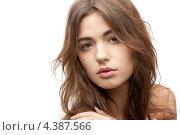 Купить «Расслабленная молодая женщина с красивым лицом на белом фоне», фото № 4387566, снято 19 июня 2019 г. (c) Syda Productions / Фотобанк Лори