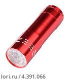 Купить «Красный светодиодный фонарь на белом фоне», фото № 4391066, снято 24 ноября 2012 г. (c) Valeriy Novikov / Фотобанк Лори