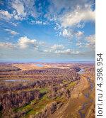 Вид сверху на ручей в лесу осенью. Стоковое фото, фотограф Владимир Мельников / Фотобанк Лори
