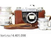 Купить «Старая пленочная фотокамера», эксклюзивное фото № 4401098, снято 14 марта 2013 г. (c) Яна Королёва / Фотобанк Лори