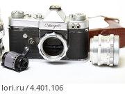 Купить «Старая пленочная фотокамера», эксклюзивное фото № 4401106, снято 14 марта 2013 г. (c) Яна Королёва / Фотобанк Лори