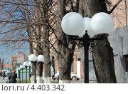 Купить «Уличный светильник, шар», фото № 4403342, снято 14 марта 2013 г. (c) Юлия Ухина / Фотобанк Лори