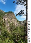 Горный пейзаж в Тункинском природном парке (2011 год). Редакционное фото, фотограф Виктория Катьянова / Фотобанк Лори