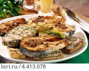 Купить «Куски лосося, жаренные на гриле», фото № 4413078, снято 21 июля 2018 г. (c) Food And Drink Photos / Фотобанк Лори