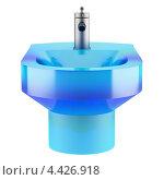 Купить «Голубое стеклянное биде на белом фоне», иллюстрация № 4426918 (c) Максим Бондарчук / Фотобанк Лори