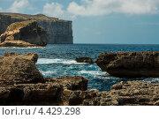 Остров Гозо на Мальте, утесы Двейры (2011 год). Стоковое фото, фотограф Vas Pakulov / Фотобанк Лори
