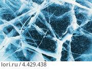 Купить «Текстура льда с трещинами, озеро Байкал», фото № 4429438, снято 14 марта 2013 г. (c) Альбина Типляшина / Фотобанк Лори