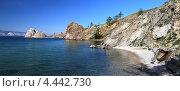 Купить «Байкал, остров Ольхон, мыс Бурхан. Панорама», фото № 4442730, снято 21 августа 2011 г. (c) Сергей Белов / Фотобанк Лори