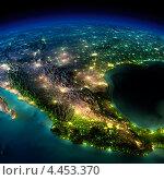 Купить «Ночь на Земле. Часть Северной Америки - Мексика», иллюстрация № 4453370 (c) Антон Балаж / Фотобанк Лори