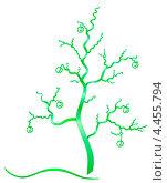Забавное фантастическое дерево. Стоковая иллюстрация, иллюстратор Диана Гарифуллина / Фотобанк Лори