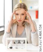 Купить «Усталая деловая женщина с головной болью», фото № 4466134, снято 17 июня 2012 г. (c) Syda Productions / Фотобанк Лори