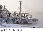 Купить «Корабли в инее зимой», фото № 4474958, снято 18 декабря 2012 г. (c) Игорь Криволуцкий / Фотобанк Лори